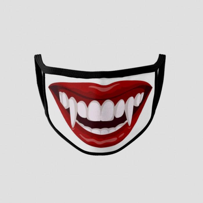Masque personnalisé réutilisable 3 couches taille mixte adulte-enfant bouche vampire