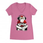 T-Shirt Femme Wise Monkey - Hear no evil