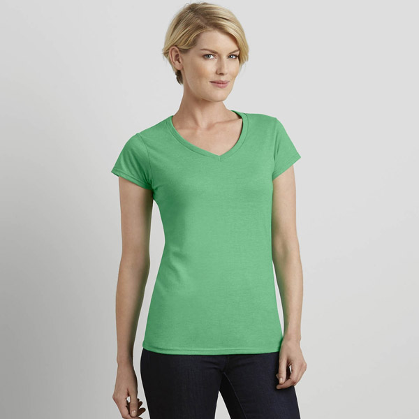 T-shirt femme col v Gildan softstyle