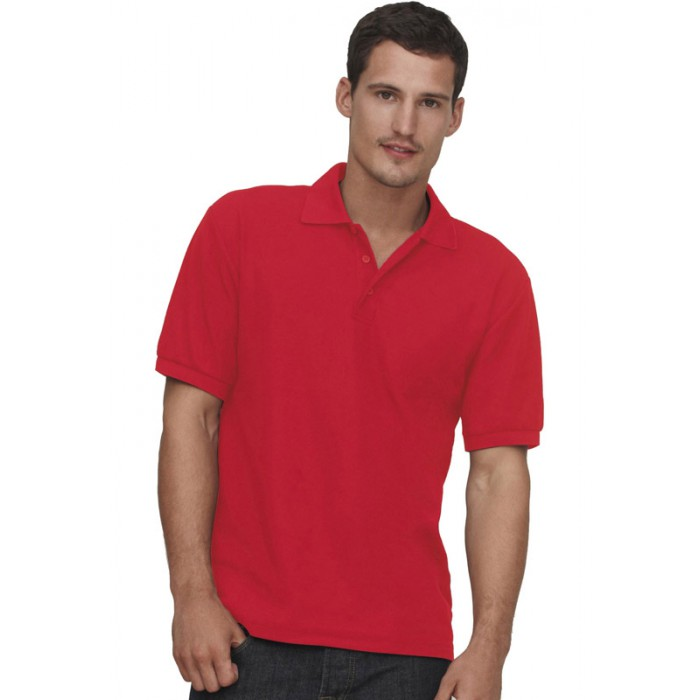Fruit of the Loom Heavy Pique Polo Shirt Red - XXL yCauGmf