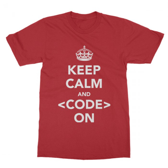 f8685812d9ac1 Keep Calm and Code On - Exact 150